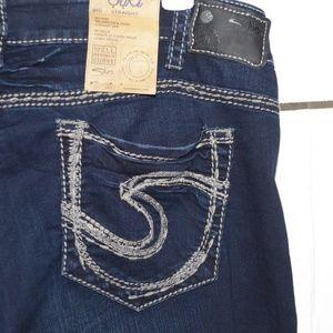 Silver womens suki jeans size 24 plus